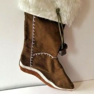 Other - Boot Christmas Stocking Winter White Faux Fur New